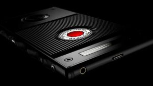 The red hydrogen one Smartphone
