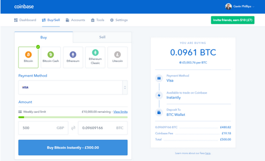 Buy Cryptocurrency Using Coinbase