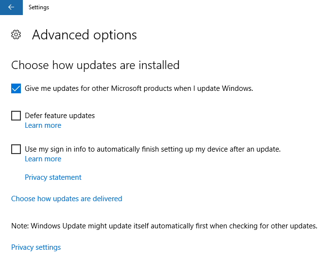 Give me updates for other Microsoft products when I update Windows 2
