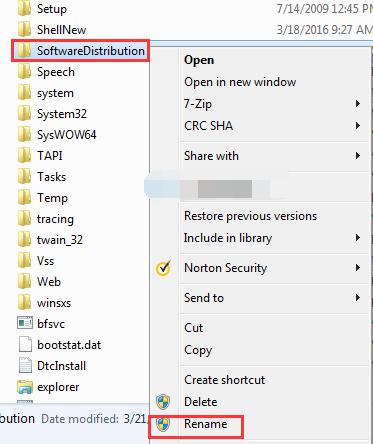 Software Distribution folder