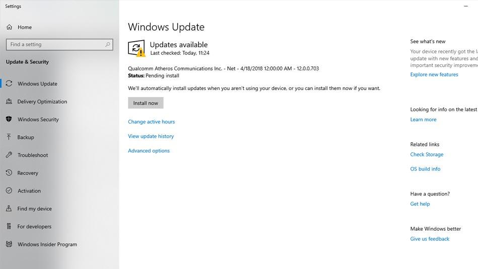 Windows Update in this list