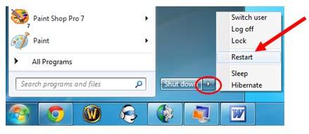 restart windows 7