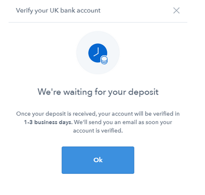 verify bank account