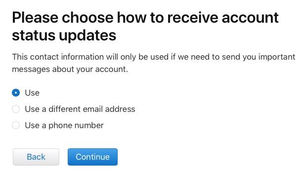 receive your account status updates