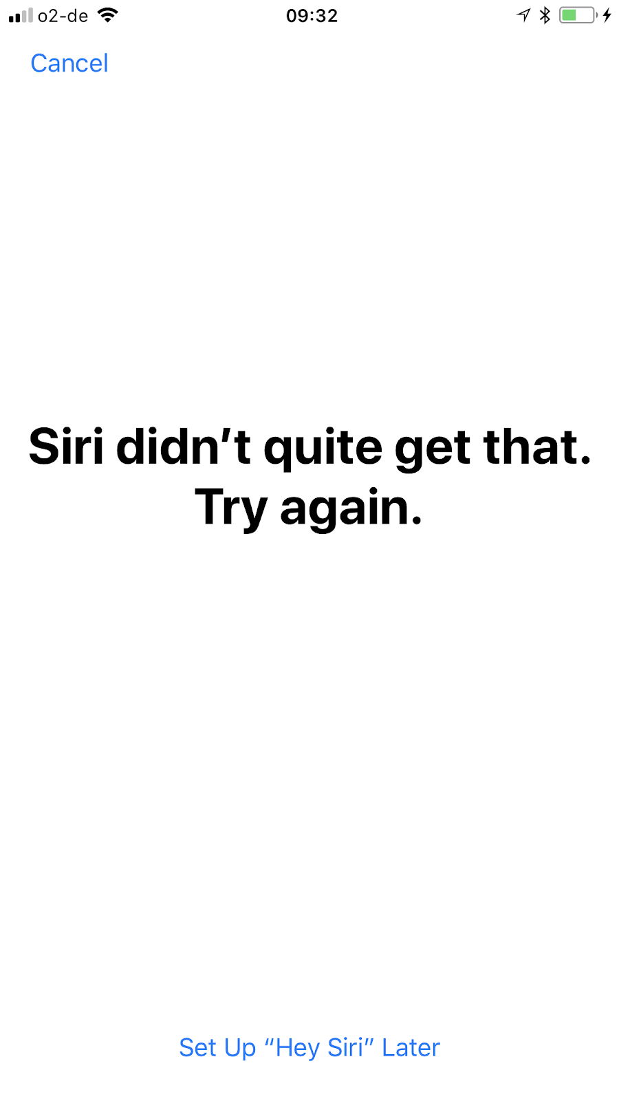 Problem connecting to Siri