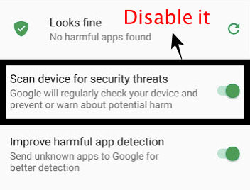 scan device from security threats