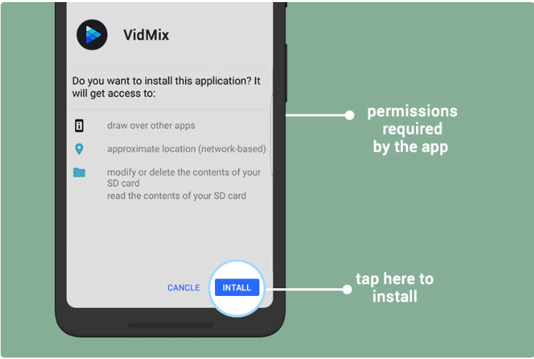 VidMix installation 4