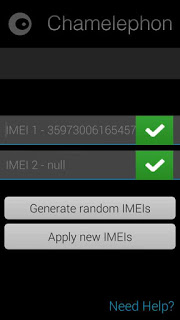 Change Your IMEI With Chamelephon APK 1