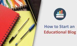 start educational blog