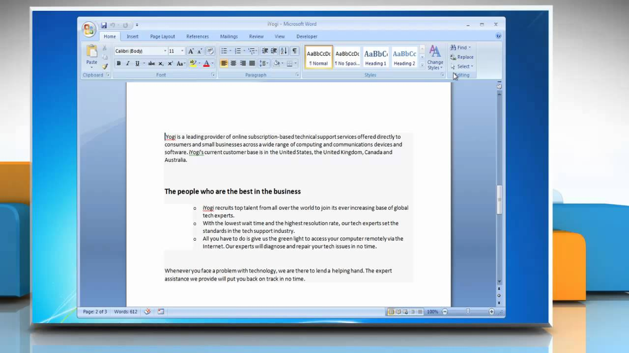 how to delete page in word