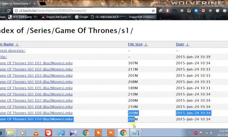 index of games of thrones