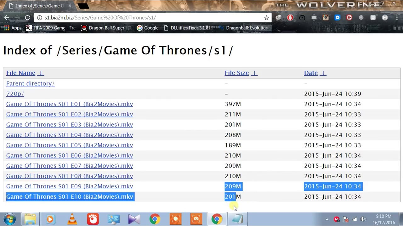 index of games of thrones