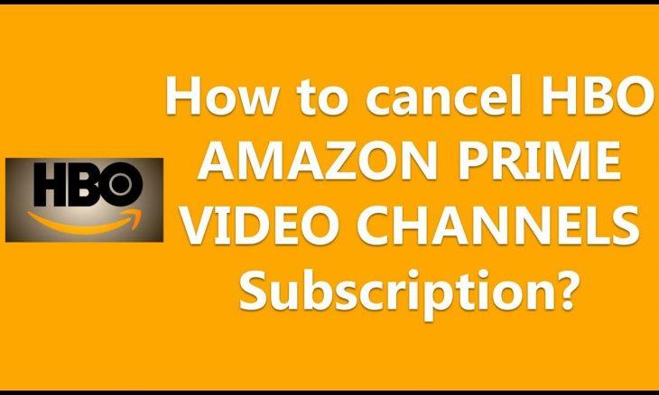 how to cancel hbo on amazon