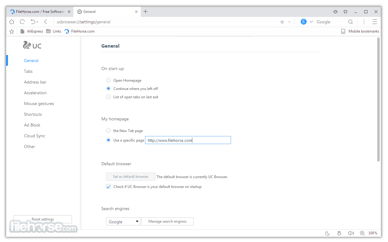 UC browser old Version