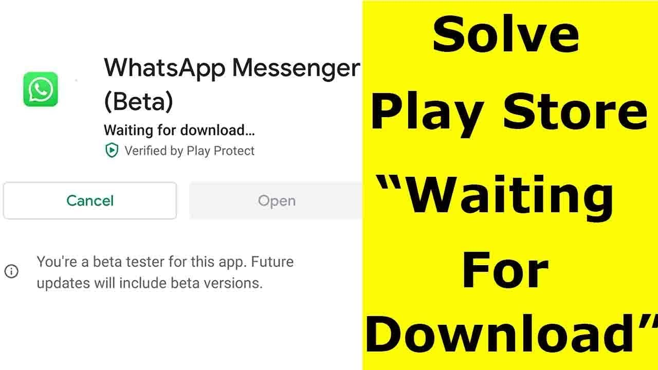 google play waiting for download