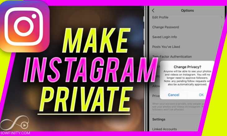 how to make instagram private