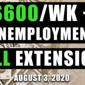 $600 unemployment extension