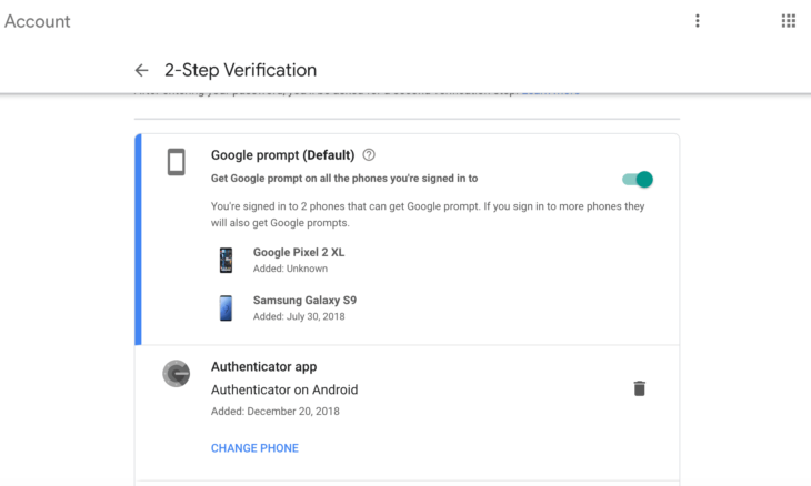 Google authenticator new phone