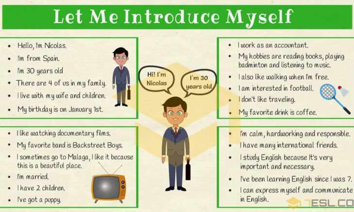 How to introduce myself