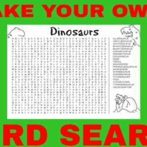 make a word search