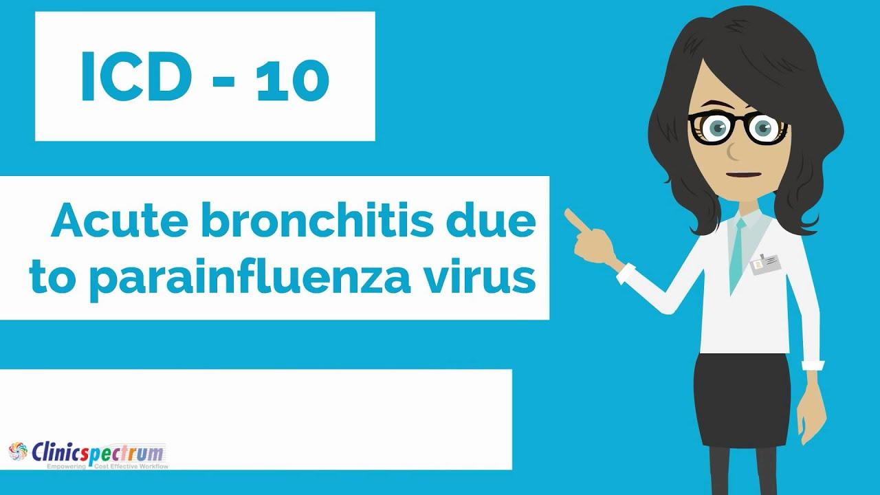 acute bronchitis icd 10